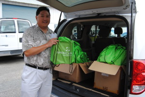 Provider agency, First to Work Waianae, collecting school supplies for their clients